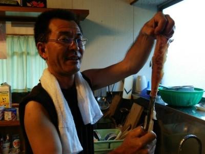 良型岩魚をお刺身に