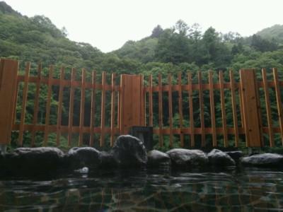 駒の湯の露天からの眺め