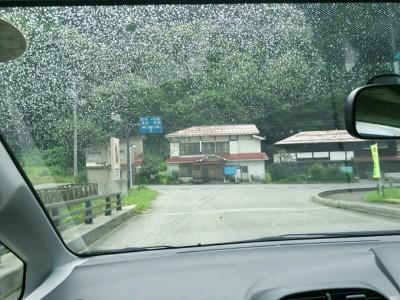 雨の降りだした檜枝岐村