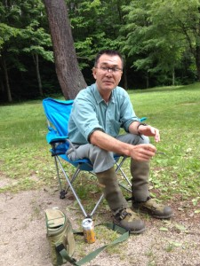 午前中の釣りを終え一休み