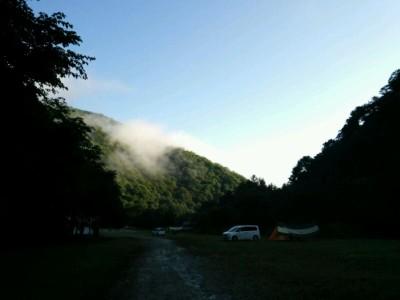 七入オートキャンプ場の朝