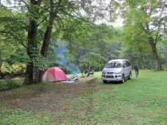 七入キャンプ場の朝