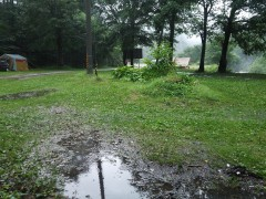 雨降りの七入オートキャンプ場