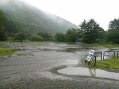 雨にたたられた七入オートキャンプ場