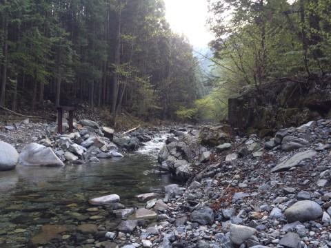 東大芦川の流れ