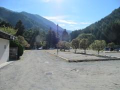 駐車場脇のキャンプサイト
