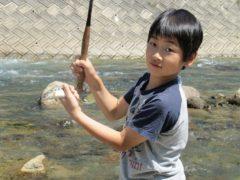 テンカラで釣れたヤマメ2