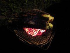 トウモロコシの丸焼き