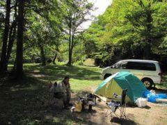 シンプルなキャンプ