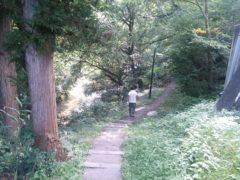 木賊温泉に向かう下り坂