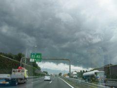 川口料金所付近での空模様