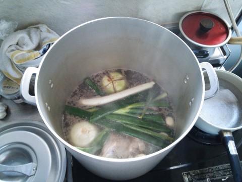 スープはいつも通りに作る