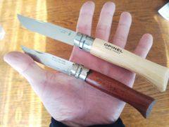 オピネルナイフの#8と#10
