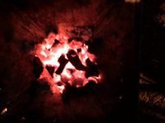 真っ赤に燃えている炭