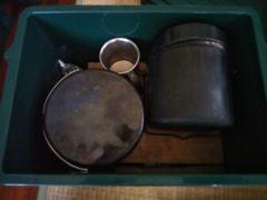 コッフェル、飯盒と共に収納