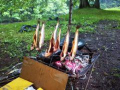 岩魚の串焼き