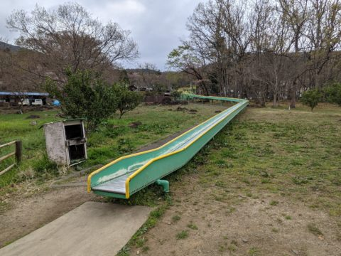 キャンプ場脇にあるローラースライダー