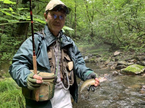 久々のヒレピン尺岩魚