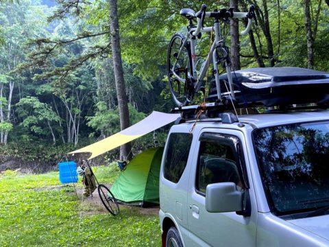 ジムニーに荷物満載でキャンプ