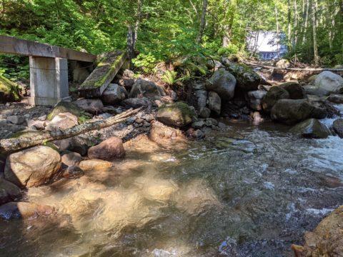 岩魚の出た流れ