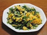 ノビルと卵の炒め物
