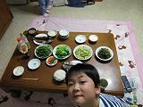 食卓に並んだ山菜