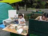 家族でのキャンプ